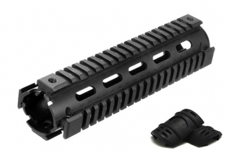 AR-15 Mid-Length 2-Piece Drop-in RIS Quad Rail System