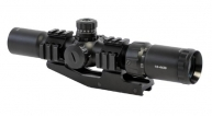 "ANS 30mm 1.5-4x30 5"" Long Eye Relief Carbine Scope, R/G/B Illum. Etched Glass Horseshoe Reticle"