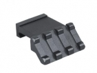 Lion Gears Tactical Picatinny 45 Degree Angle Mount, 3 Slots, Low Profile