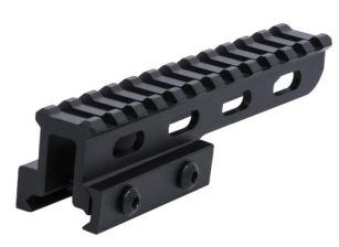 "Lion Gears 12-Slot 1"" Hi-Profile Extended Picatinny Riser, 5"" Long"