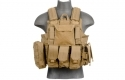 Lancer Tactical CA-303T Tactical Strike Plate Carrier MOLLE PALS Vest - Tan