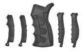 CAA Ergonomic Pistol Grip w/ 6-Piece Interchangeable Grips Black