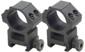"Lion Gears Sniper 1"" High Profile Scope Rings, Picatinny Mount, See-Thru"
