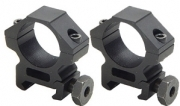 "Lion Gears Sniper 1"" Low Profile Scope Rings, Picatinny Mount, See-Thru"