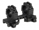 "UTG Integral 1"" Med-pro QD Ring Mount, 2 Top Slots,95mm Base"