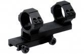 "UTG 1"" 1-piece Offset See-thru Scope Mount, Picatinny"