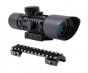 Accurate M9 3-10x42 Compact Rifle Scope w/ Riser, R/G Illum. Mil-Dot Reticle