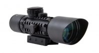 Accurate M9 3-10x42 Compact Rifle Scope, R/G Illum. Mil-Dot Reticle