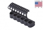 Mesa Tactical 93630 SureShell 6 Shell Carrier and Top Rail for Mossberg 500 12-GA